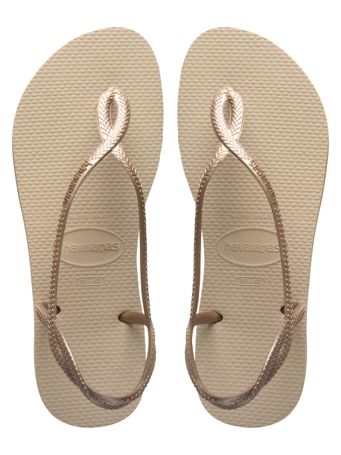 Tongs Havaianas Luna, coloris areia